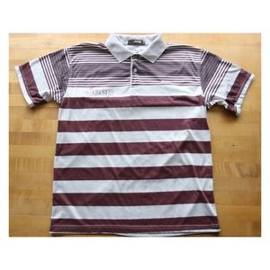 Vtg Jeep Collared Stripe Short-sleeve Tee